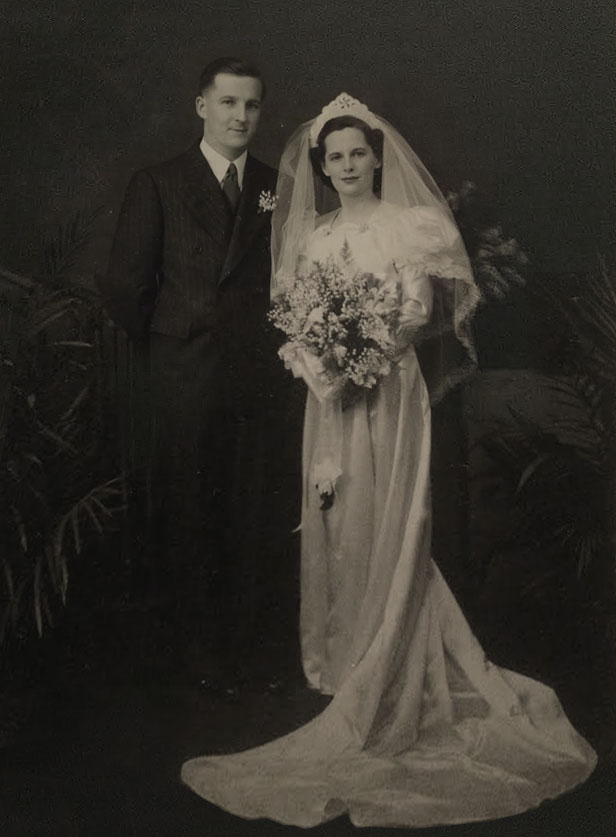 Patricia's parents on their wedding day in 1940.